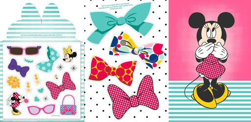Minnie Mouse Birthday Card With Sticker Sheet for Granddaughter,