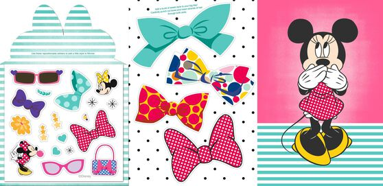 Minnie Mouse Birthday Card With Sticker Sheet for Granddaughter – Minnie Mouse Birthday Card