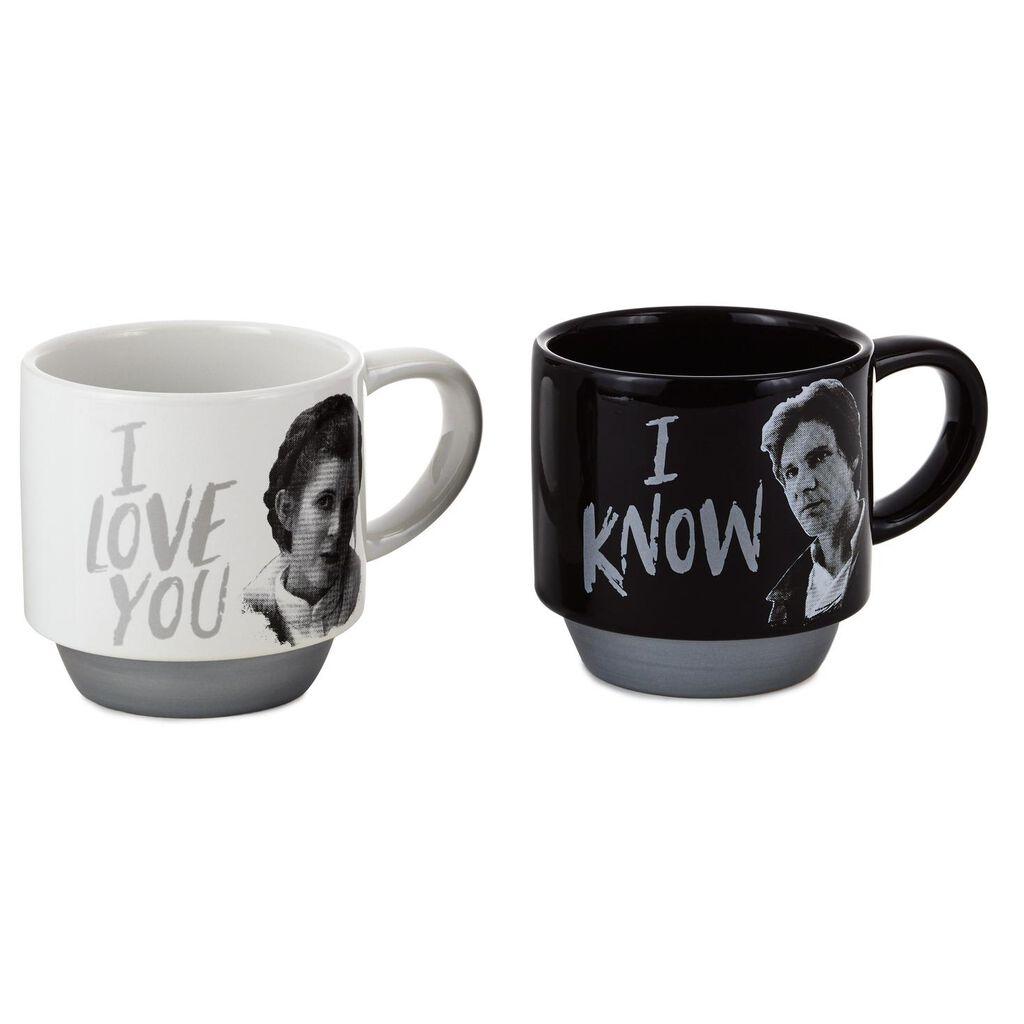 3436bdb7f4b Star Wars™ Han Solo™ and Princess Leia™ Love You Stacking Mugs, Set of 2