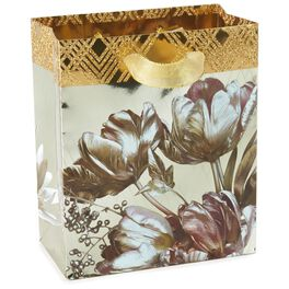"Glittered Flowers Small Gift Bag, 6.5"", , large"