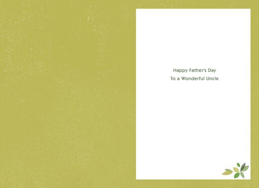 Admiration for an Uncle Father's Day Card,