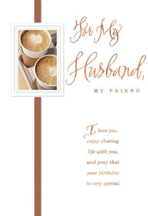 My Husband My Friend Religious Birthday Card