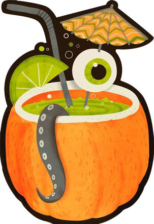 Adult Pumpkin Drink Halloween Sound Card