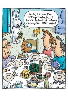 Bitter Herbs Funny Passover Card,