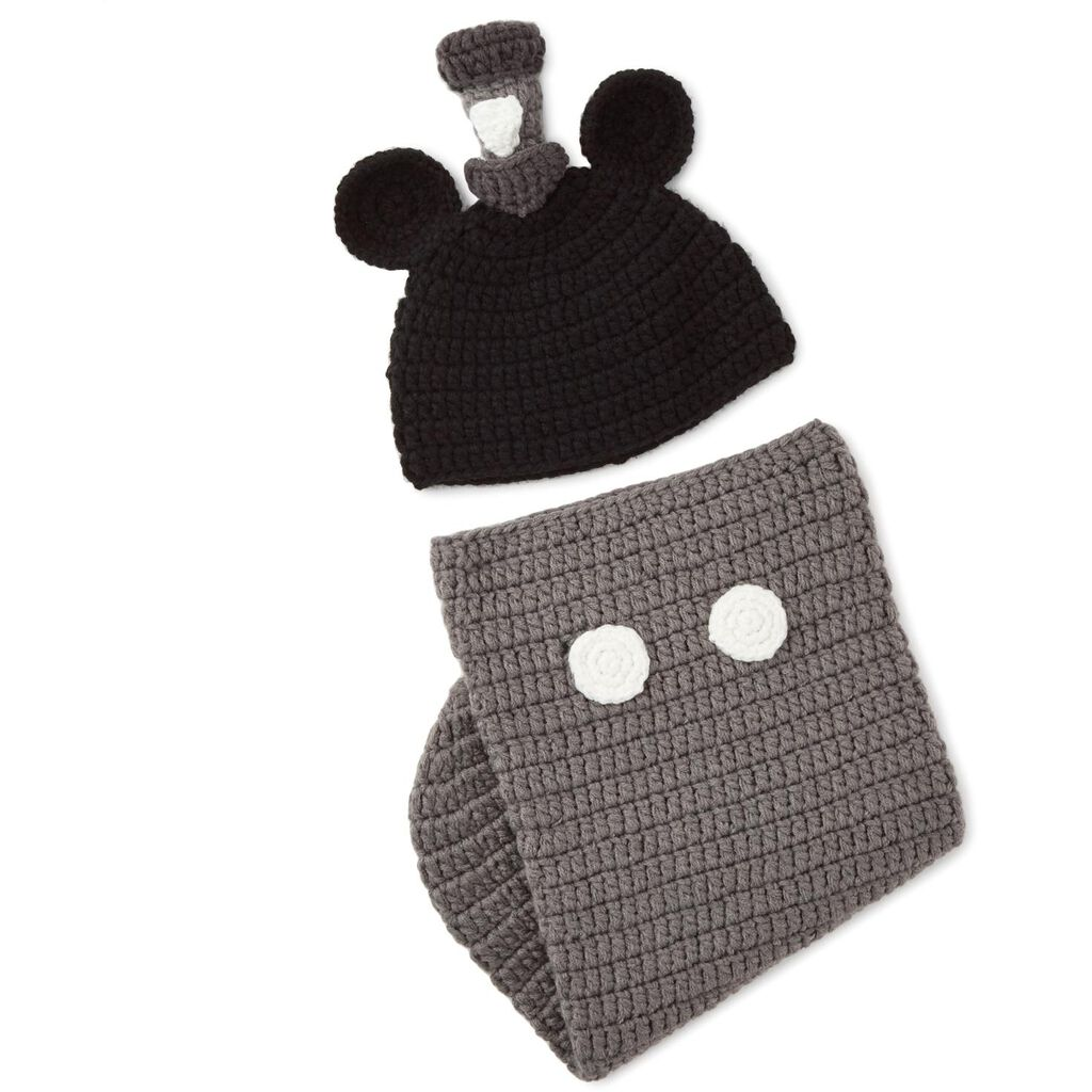 Mickey Mouse Newborn Knit Baby Wrap and Hat Set - Baby Essentials ... c25ed61d31e