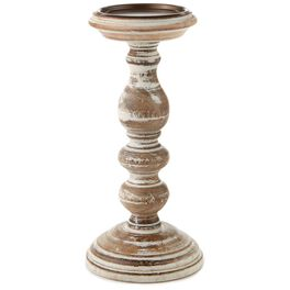 """Small Turned Wood Candle Holder, 9.75"""", , large"""