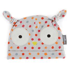 Polka dot Owl Baby Hat, , large