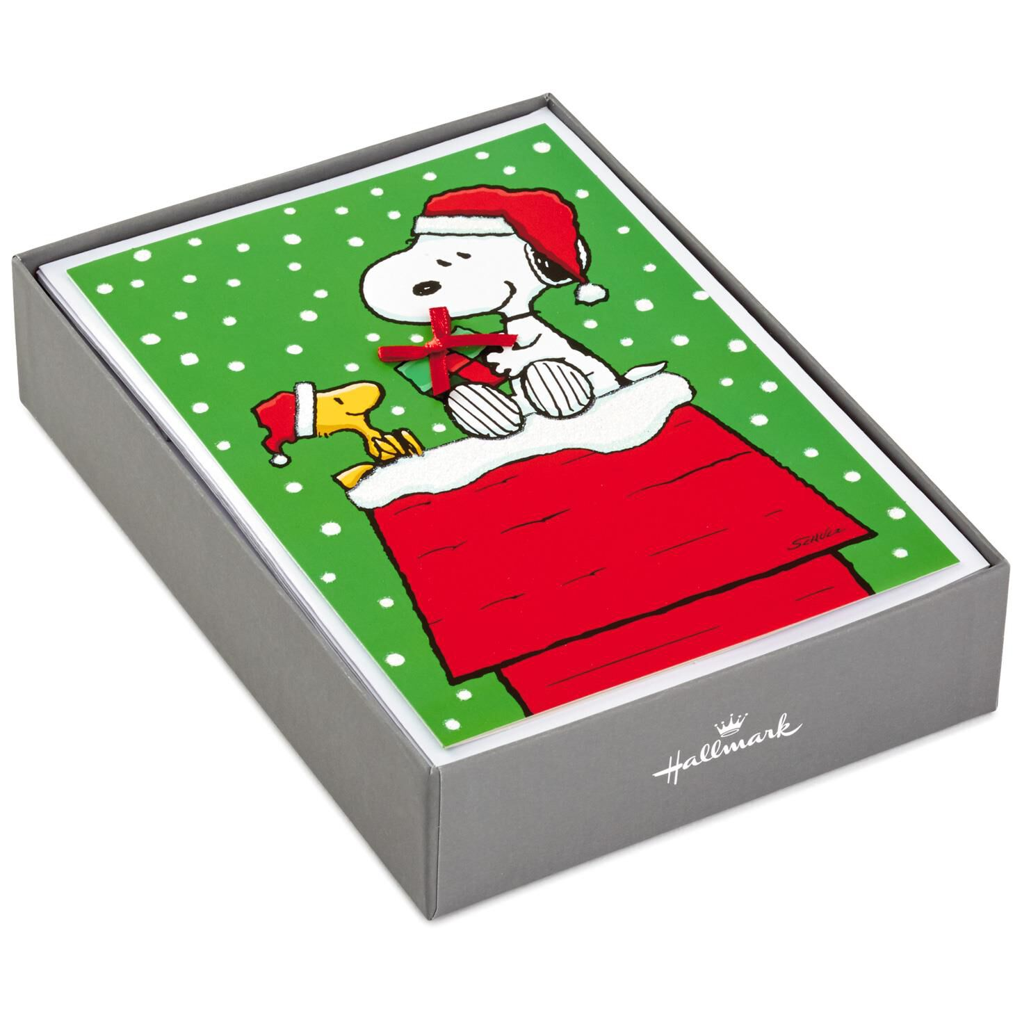peanuts snoopy doghouse christmas cards box of 16 boxed cards hallmark