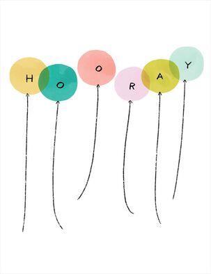 Balloon Hooray Birthday Card