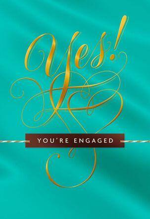 Beautiful Beginning Engagement Wedding Card