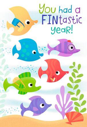 Colorful Fish Fintastic Graduation Card