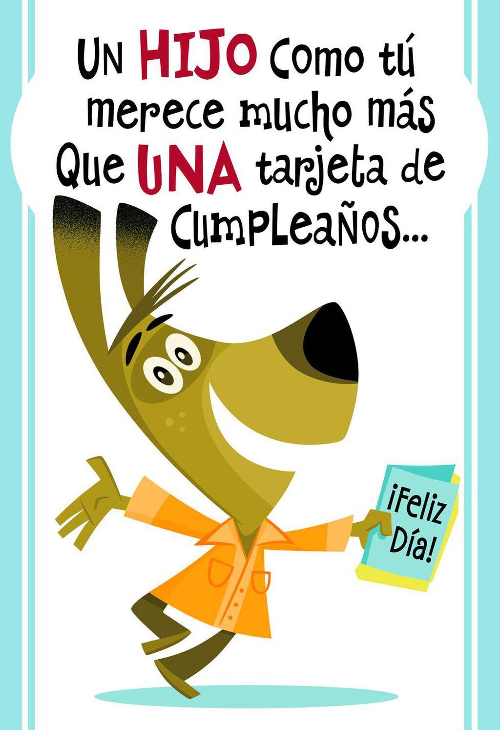 A Son Like You Spanish Language Birthday Card