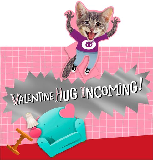 Incoming Hug Funny Valentine's Day Card,