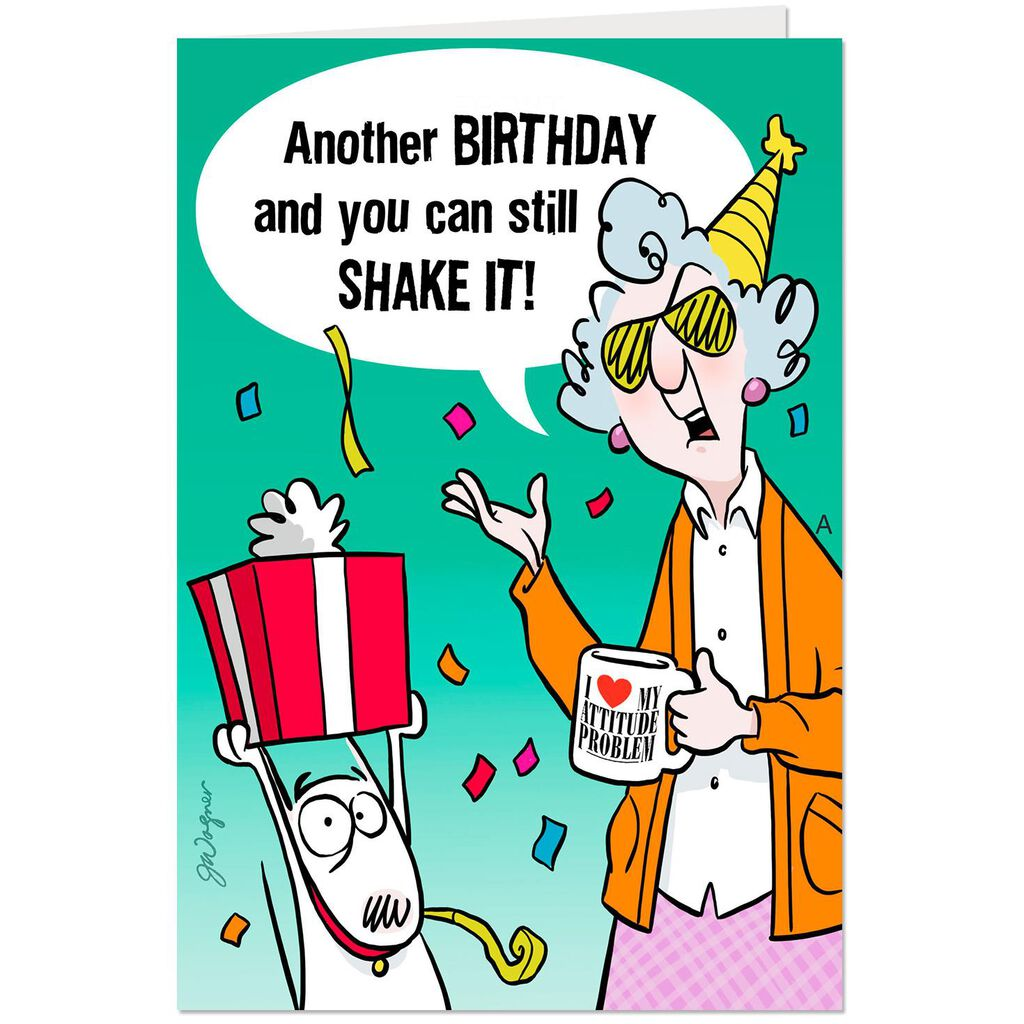 MaxineTM You Can Still Shake It Funny Pop Up Birthday Card
