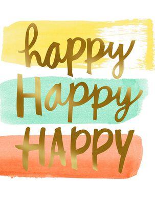 Triple Happy Blank Card