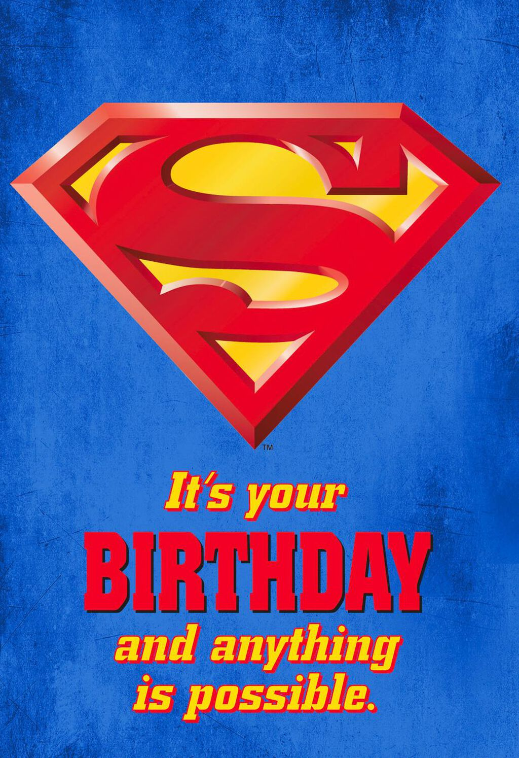 Superman™ Anything Is Possible Birthday Card - Greeting Cards - Hallmark