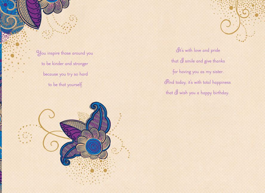 You Are A Beautiful Black Woman Birthday Card For Sister Greeting