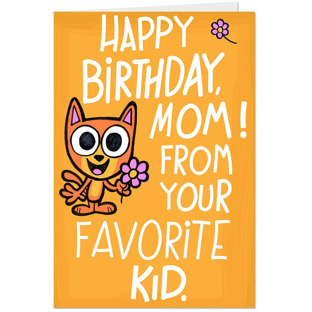 From Your Favorite Kid Funny Pop Up Birthday Card For Mom