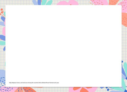Pastel Flowers Blank Just Because Card,
