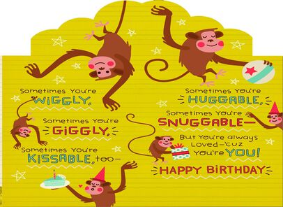 Monkey Birthday Card for Grandson Greeting Cards Hallmark – Monkey Birthday Card