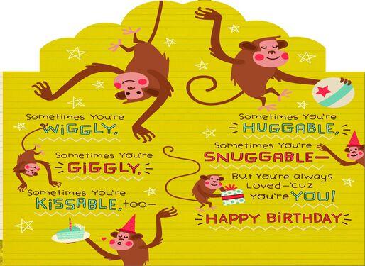 Monkey Birthday Card for Grandson Greeting Cards Hallmark – Birthday Card Monkey