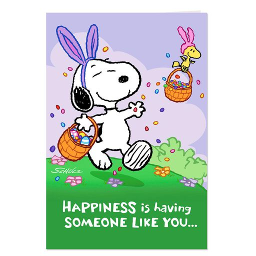 PeanutsR Snoopy And Woodstock Easter Cards Pack Of 6