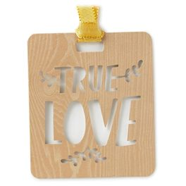 Woodgrain Die-Cut True Love Gift Trim, , large