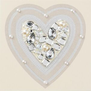 Bejeweled Heart Just Because Card