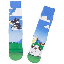 Dogs Playing in the Park Toe of a Kind Socks, , large