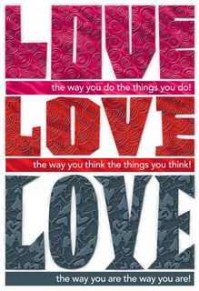 Love, Love, Love You, Daughter Valentine's Day Card,