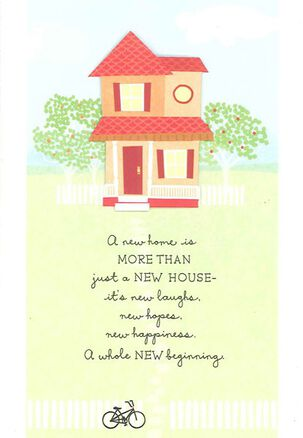 Hopes & Happiness New Home Congratulations Card