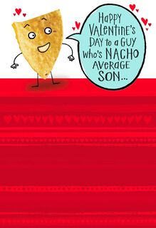 Nacho Chip Valentine's Day Card for Son,