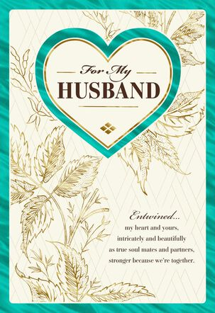 Our Hearts Entwined Birthday Card for Husband