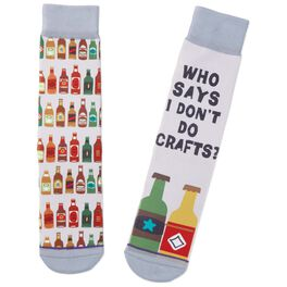 I Do Crafts Beer Bottle Toe of a Kind Socks, , large