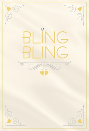 Bling Bling Engagement Wedding Card