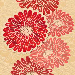Chrysanthemums Blank Card