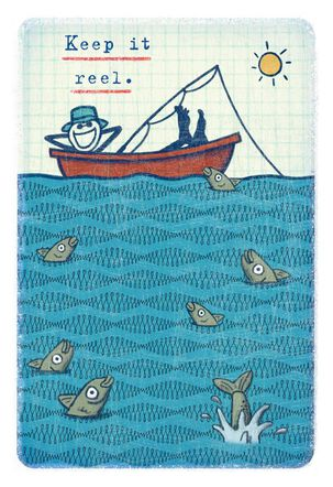 Life is Good® Dad Relaxing in Fishing Boat Father's Day Card
