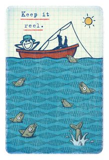 Life is Good® Dad Relaxing in Fishing Boat Father's Day Card,