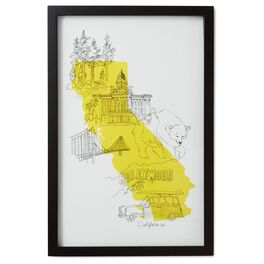 California Black Framed Art Print, , large