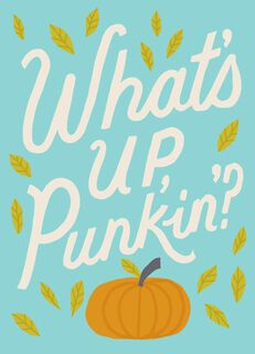 What's Up, Punkin Halloween Card,