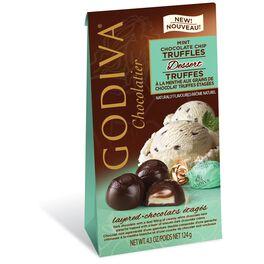 Godiva Chocolatier Individually Wrapped Dark Chocolate Mint Truffles, , large