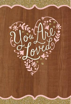 Wood Panel You Are Loved Valentine's Day Card