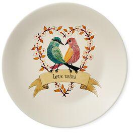 Lovebirds Dessert Plate, , large