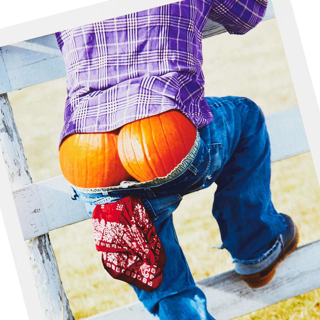 Pumpkin Butt Scarecrow Halloween Card