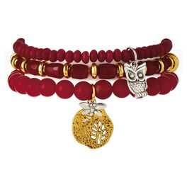 Chavez for Charity Scarlet Red Owl Bracelets, Set of 3, , large