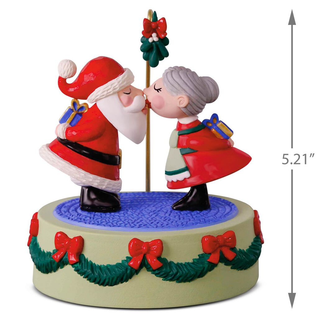 Kissing Clauses Musical Ornament With Motion - Keepsake Ornaments ...