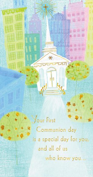 Special Day First Communion Money Holder Card
