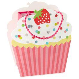 "Cupcake-Shaped Small Gift Bag, 6.5"", , large"