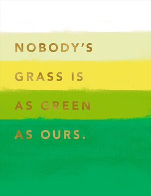 Our Green Grass Anniversary Card