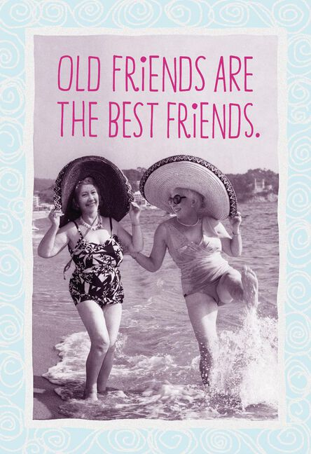 Old Friends Are The Best Friends Funny Birthday Card Greeting
